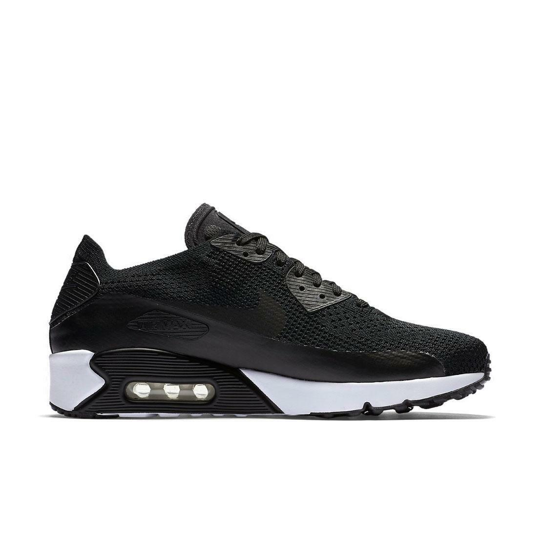 Homme Nike Air Max 90 Ultra 2.0 Flyknit Black 875943 Trainers 875943 Black 004 082a86