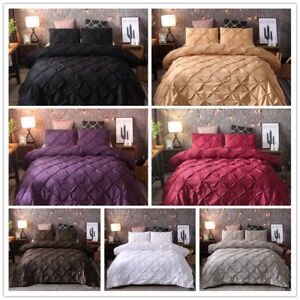 Pintuck-Rapport-Duvet-Cover-Luxury-Pin-Pleat-Bedding-Quilt-Sets-Queen-Full-King