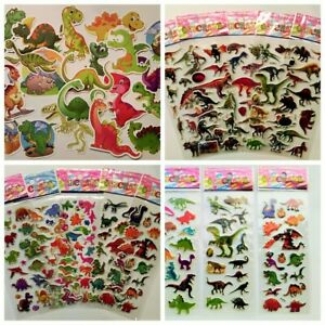 3D-Sticker-Dino-Saurier-1-10-Folien-Dinosaurier-Kinder-Tiere-Puffy-Aufkleber-Set