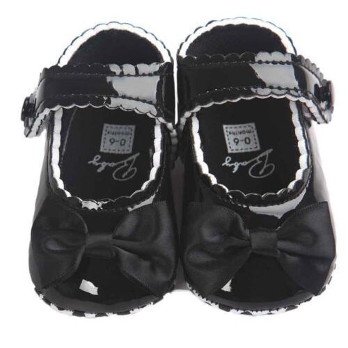 Bébé Fille Noeud leater Chaussures De Sport Anti-dérapant semelle souple bébé 0-18 Mois