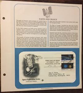 EARTH AND URANUS MOON NEPTUNE CCCP SPACE EXPLORATION ASTRONAUT COVER Postal