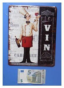 Targa-vintage-034-Le-vin-Merlot-034-calice-di-vino-cameriere-metallo-cm-25x20