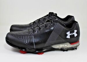 Under-Armour-Spieth-2-Golf-Shoe-Spike-Gore-Tex-Blk-Gry-Red-3000165-001-Size-8