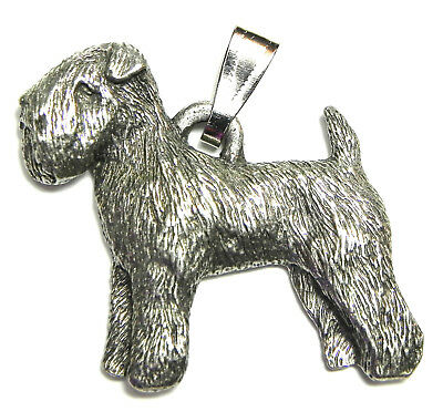 Boston Terrier Dog Harris Fine Pewter Pendant w Chain Necklace USA Made