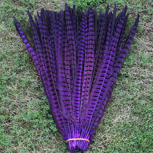 10-100 Pcs 25-60 cm Wholesale 10-24 inch natural pheasant tail feathers Hot