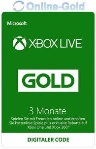 Xbox-Live-3-meses-oro-pertenencia-codigo-de-3-month-Microsoft-Xbox-360-one-key