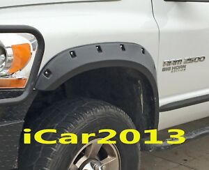 FENDER FLARES FIT 2004 2005 2006 2007 2008 DODGE RAM 1500 POCKET RIVET BOLT STYL