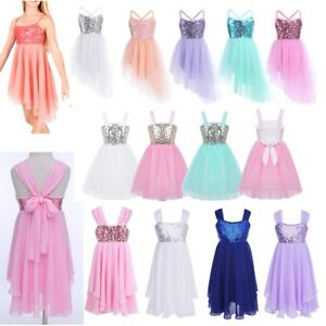 6a41d099e89a Image is loading Girls-Sequined-Camisole-Ballet-Dance-Tutu-Dress-Lyrical-