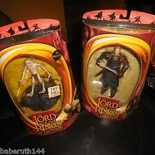 2 LOT Figures Toy Biz Lord Of The Rings Gollum Electronic Sound Base Two Towers