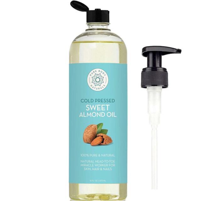 Sweet Almond Oil Hair Skin 100% Pure Cold Pressed Moisturizer Massage Oil