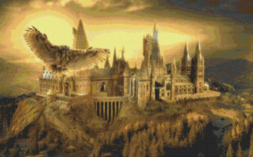 Hogwarts Escuela B//W cross stitch chart buy 1 Get 1 Mitad De Precio