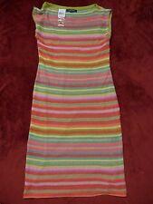 $498 Ralph Lauren Women Multi-color Dress RAINBOW Summer Stripes Dress Sz XL NWT