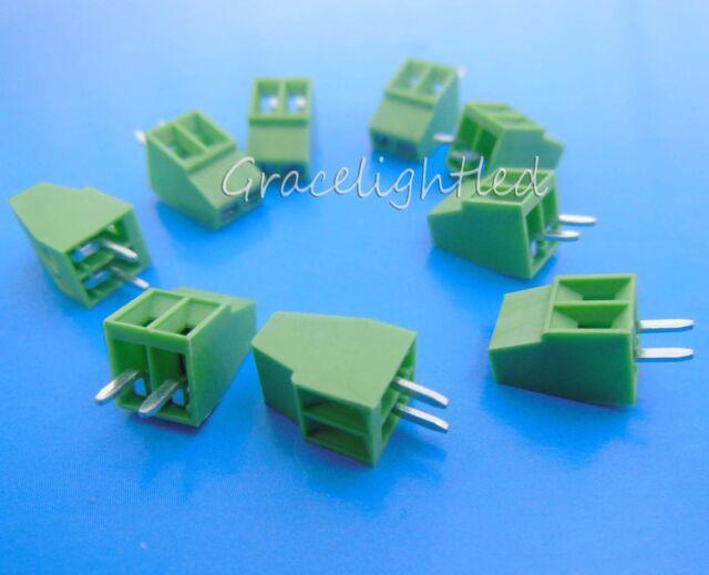 "10pcs 2Pole Pin 2.54mm 0.1"" PCB Screw Terminal Block Connector"