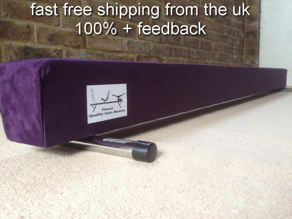 Finest quality gymnastics gym balance beam purple 8FT long brand new reduced