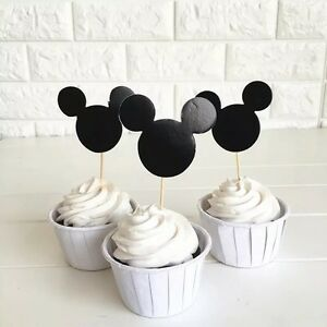 12pcs-Disney-Mickey-Mouse-cupcake-Food-TOPPERS-Lolly-Loot-Bag-Party-Supplies