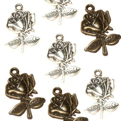 craft Bronze Alice Card Heart Jewellery Tibetan Charm X 2  Findings//jewellery