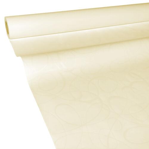 50m x 0,75m LOOP beige creme JUNOPAX Papiertischdecke Damast-Effekt