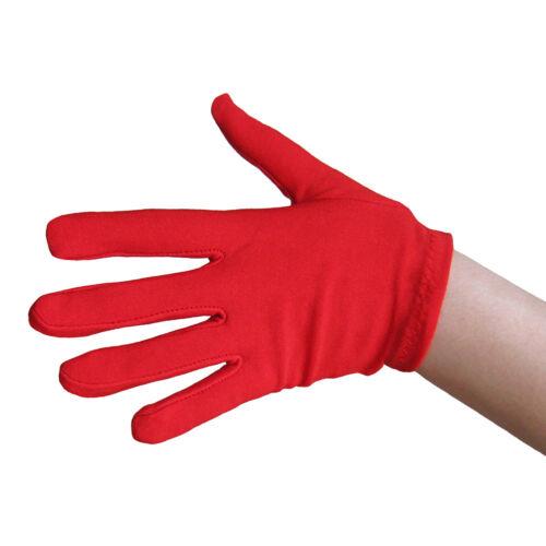 Child Red Costume Gloves ~ KIDS HALLOWEEN SUPERHERO DEVIL VAMPIRE SANTA DRESS UP