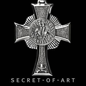 Knights-Templar-Tempelritter-Anhaenger-Silber-925-Kreuz-Masonic-Freimaurer-Ritter