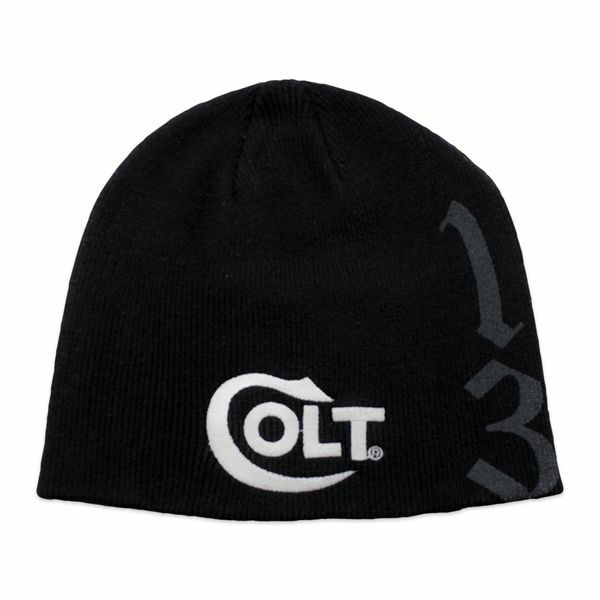 Buy Colt Firearms Factory Black Beanie Cap W  White Colt Embroidered Logo  1836 Kenny online  9e190a19a28