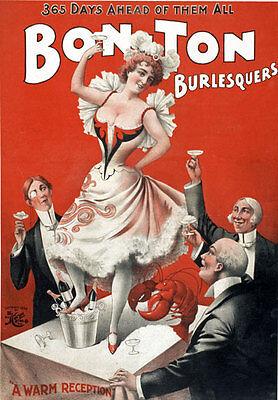B23 Vintage Bon Ton Burlesque Theatre Poster A1 A2 A3