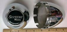 4  Front Snap Center Caps for SUPREME WHEELS WHEELS 3.25 INCH BORE AWC NEW