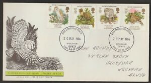 GREAT BRITAIN 1986 NATURE CONSERVATION--ENDANGERED SPECIES FDC