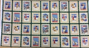 100/% Cotton Green Antique Scrapbook Panel Woodrow Studios Card Making