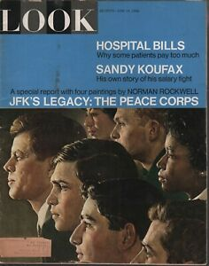 Look Magazine June 14 1966 John F Kennedy Sandy Koufax JFK 080719AME