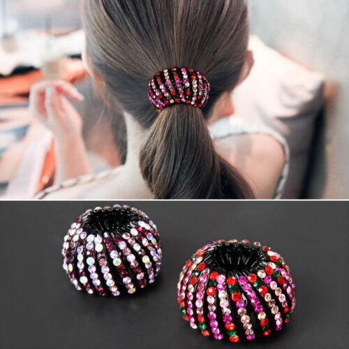 Fashion Femmes Nid Queue de Cheval Titulaire Clips Cheveux Pince à cheveux Perles Cheveux Accessoires