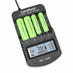 Smart-chargeur-de-batterie-NiMH-Lii-ND4-ecran-LCD-AA-AAA-9-V-lithium-capacite-de-l-039-UE-nous