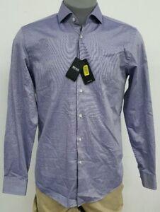 a6844a409 Hugo Boss Black Label Navy Bird's Eye Dot L/S Men's Dress Shirt 15.5 ...