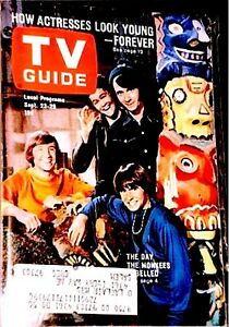 TV Guide 1967 The Monkees GAI Graded EX-MT Jones Dolenze Nesmith Trindl #756