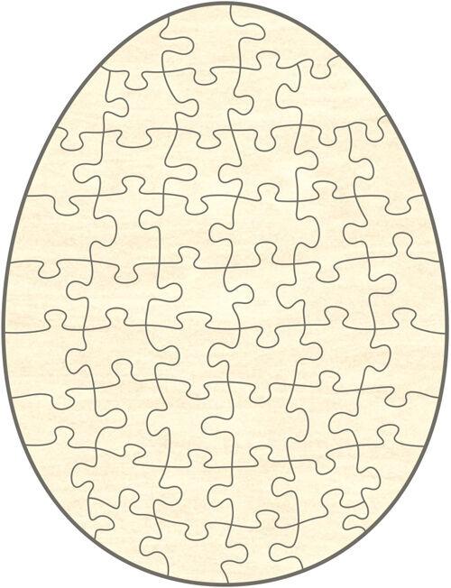 Blanko Holz-Puzzle Ei, 48 Teile, 39x51 cm, zum Selbst Bemalen und Gestalten