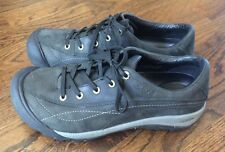 Woman's Keen Black Leather Lace-up Shoes Size 10.5 - EUC