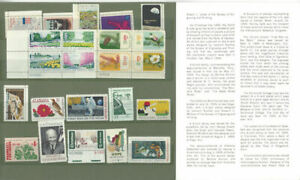 1969-Commemorative-Stamp-Yr-Set-Mint-NH-23-Stamps-Folder-O-380-727