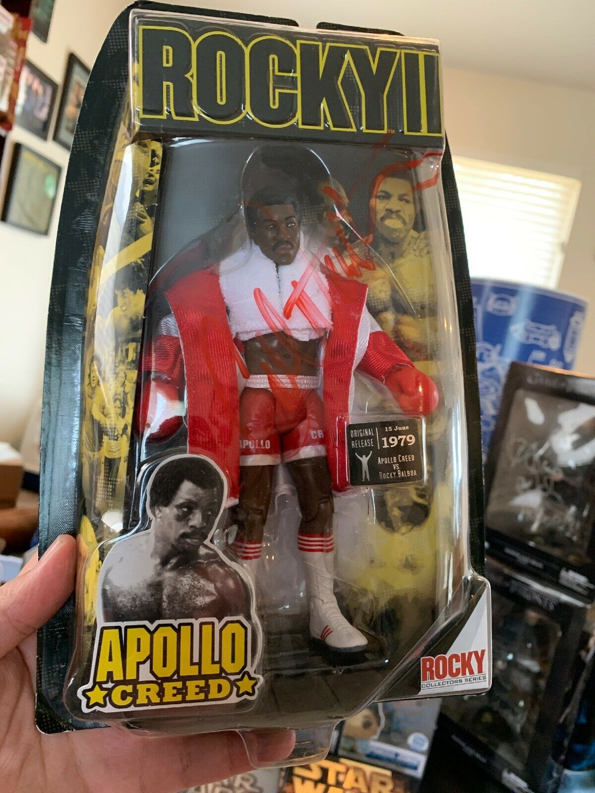 Rocky II Apollo Creed Action Figure Jakks Pacific Series Signed By Carl Weathers