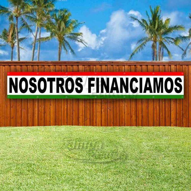 NOSOTROS FINANCIAMOS Advertising Vinyl Banner Flag Sign ...