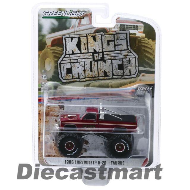 Greenlight 1:64 King's Crunch 1986 Chevy K20 Taurus Monster Truck 49060D Diecast