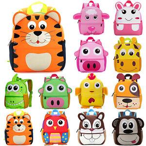 Kids Cute Cartoon Backpack School Bags Girls Boys Toddler Rucksack Shoulder Bags