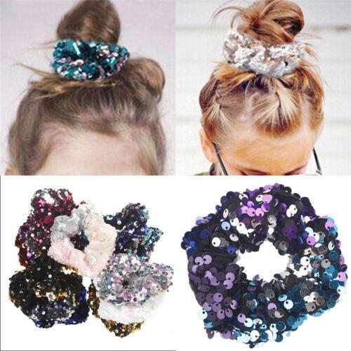 Sequin Hair Scrunchies Women Girls hair Accessories Elastic Hair Ties Fashion YE