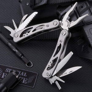 Multitool Locking Pliers With Knife Small Edc Pocket Folding Made
