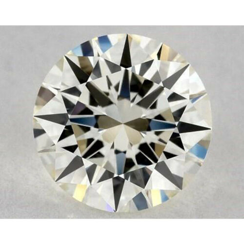 Loose Moissanite Nice 0.80 ct 6.35 mm VVS1 Off White Yellow Round Cut
