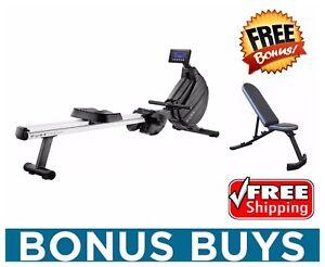 BONUS-BUY-Pure-Design-PR8-Rower-Magnetic-Air-Rowing-Machine-FREE-Incline-Bench