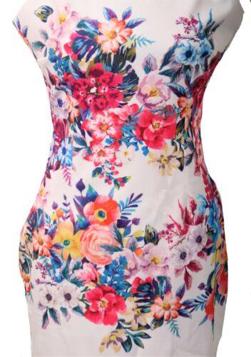 Robe comme fourreau en Fleurs Design SOLDES 50/%