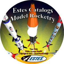 53 Estes Catalogs Model Rocketry on DVD, Rockets Books Tools Supplies Kits