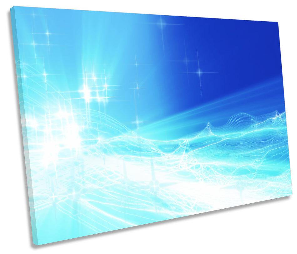 Lona único abstracto Sparkle Estrellas Parojo Arte Arte Arte enmarcado impresión 1c25d9