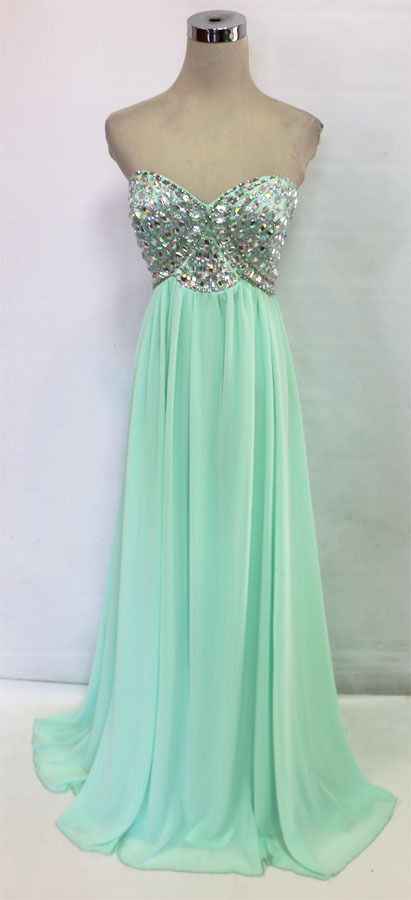 SEQUIN HEARTS Mint Evening Prom Formal Gown 9 - 125 NWT