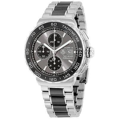 Tag Heuer Mens Formula 1 Anthracite Automatic Chrono Swiss Watch CAU2010.BA0873