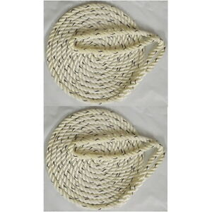 2 Pack of 3/8 Inch x 20 Ft Premium Twisted Nylon Mooring and Docking Lines